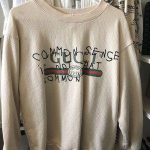 035fe753b719 Gucci Sweaters   Common Sense Not Common White Sweatshirt   Poshmark